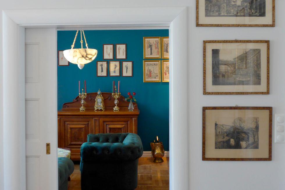 I 1922 kjøpte besteforeldrene leiligheten. Nå har barnebarnet overtatt, pusset opp og tatt vare på stilen.
