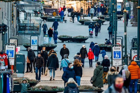 Se bildene fra en annerledes julaften i Oslo