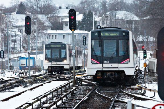 To T-banestasjoner blir kveldsstengt i nesten tre måneder