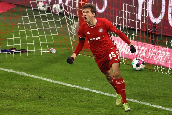 Müller reddet Bayern igjen - beholdt ledelsen i Bundesliga
