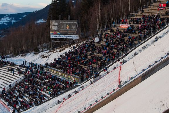 Naziflagg ble hengt opp i OL-bakken i Lillehammer