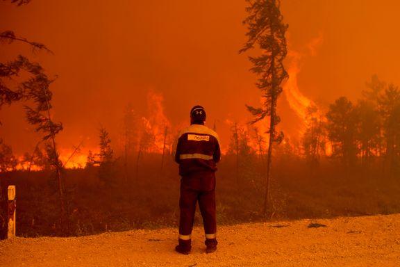 Historisk store skogbranner herjer. Nå trues topphemmelig atombombeanlegg.