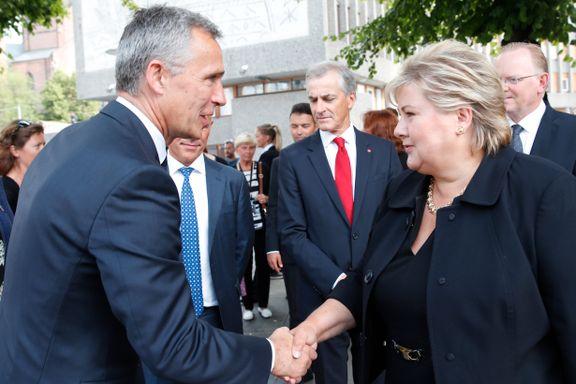 Høyre og Frp droppet tidfesting av NATO-mål i regjeringsplattformen