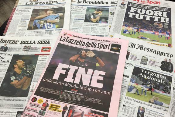 Nådeløs dom: Italiensk presse krever at hele landslaget sparkes
