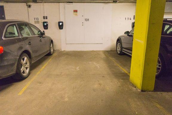 Denne parkeringsplassen selges for nesten 1 million