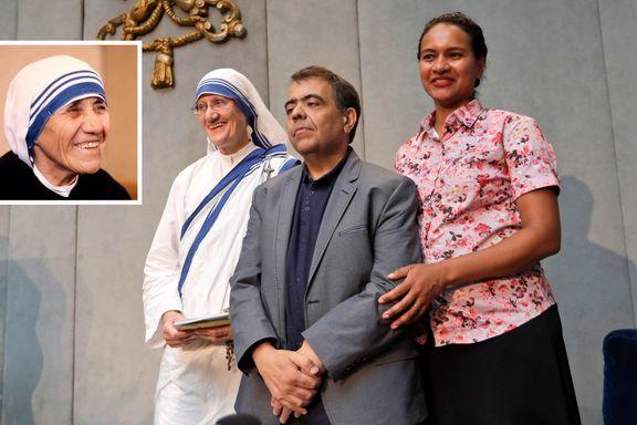 I dag blir Mor Teresa erklært helgen. En av årsakene er at Marcilio Andrino lever.