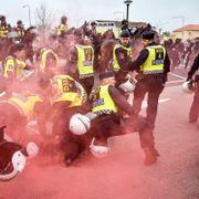 Seks nordmenn innbrakt eller pågrepet etter nazidemonstrasjon i Sverige