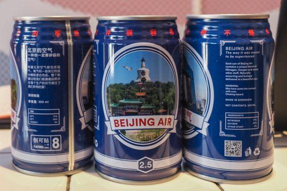 Frister det med litt ekte Beijing-luft på boks?