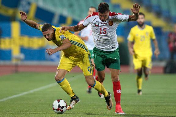 Sverige gikk på smell mot Bulgaria og mistet ledelsen i VM-kampen