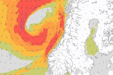 Skalk lukene, fortøy båten, hent inn trampolinene! Sterk storm og 11 meter høye bølger i vente.