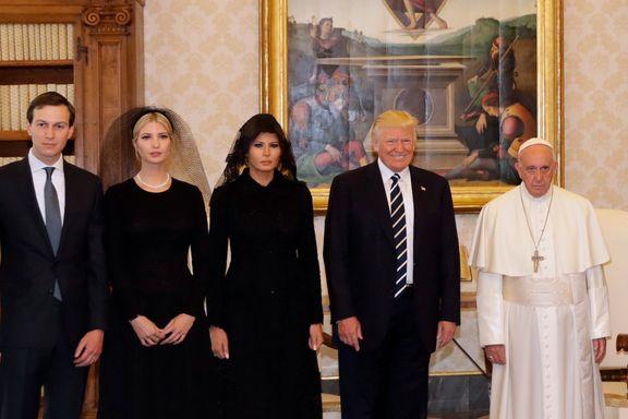Tok med hele familien i møte med Paven: Trump inspirert til å skape fred etter 29 minutter hos paven