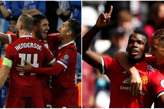 Enkel Champions League-trekning for Manchester United og Liverpool