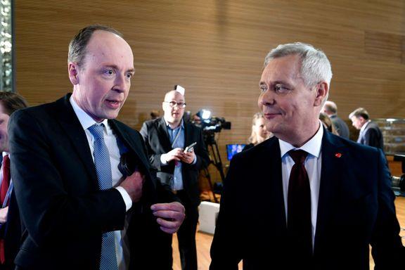 Socialdemokraterna og Sannfinnene jevnstore. Centern valgets taper.