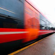 Togtrafikken i rute ved Asker