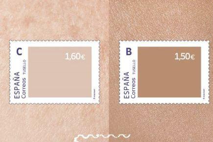 Spania laget frimerker mot rasisme. Når får postverket huden full.