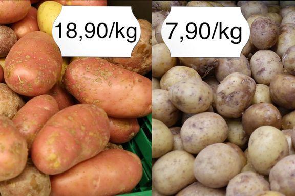 Fem grunner til at frukt og grønt er dyrere hos kjedebutikkene