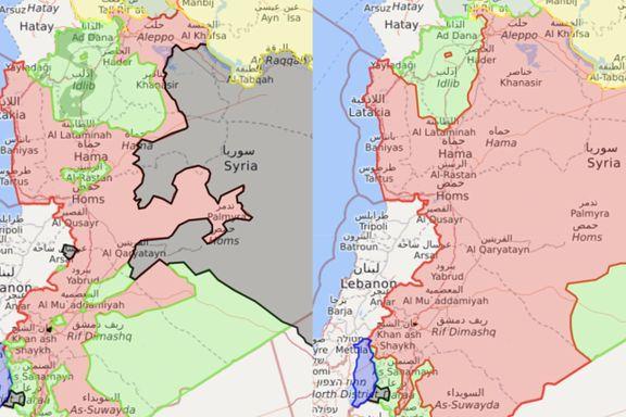 Opprørerne gikk på en ny smell i Syria. Se kartet som viser hvor dårlig de har gjort det.