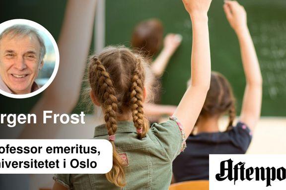 Spesialundervisningen er skolens ømme tå   Jørgen Frost