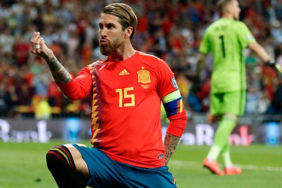 Spania knuste Sverige i Norges gruppe