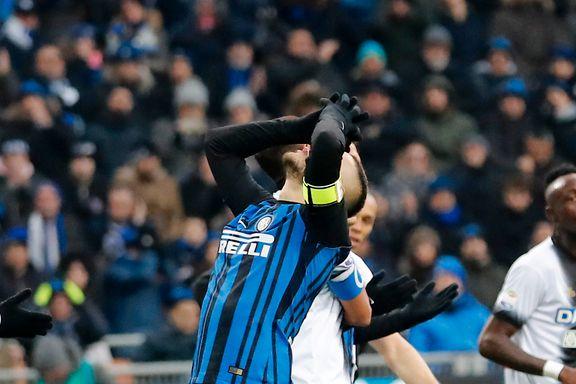 Inter hadde ikke tapt før i kveld. Nå er serieledelsen i fare