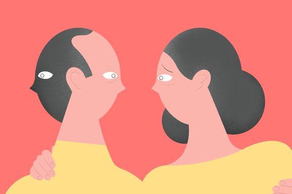 Kjæresten hans får «flashbacks» fra da hun ble voldtatt. Han føler seg avvist og utestengt.