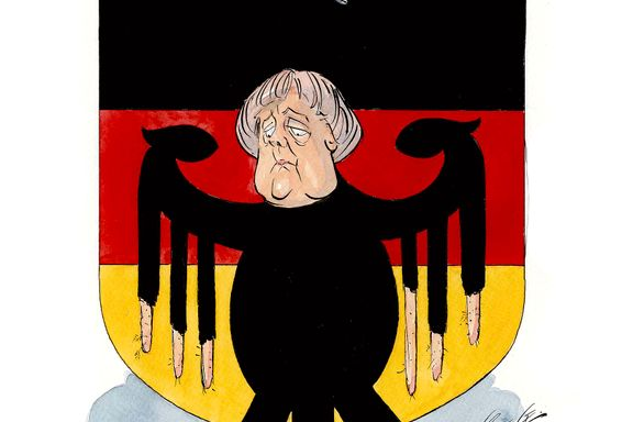 Ikke lett å rikke på Merkel   Per Kristian Haugen