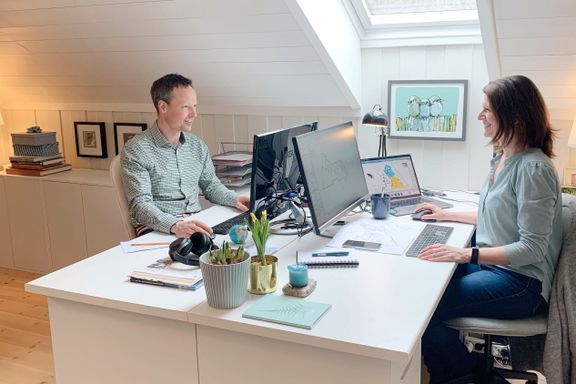 Interiørarkitekten og fysioterapeutens råd: Slik lager du et godt hjemmekontor