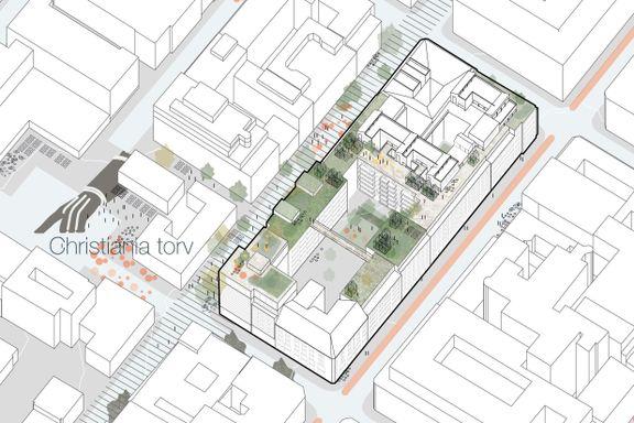 Vurderer å bygge rekkehus på tak i Oslo sentrum