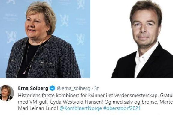 Reagerer på Erna Solbergs gullmeldinger: – Fremstår som hult og hyklersk