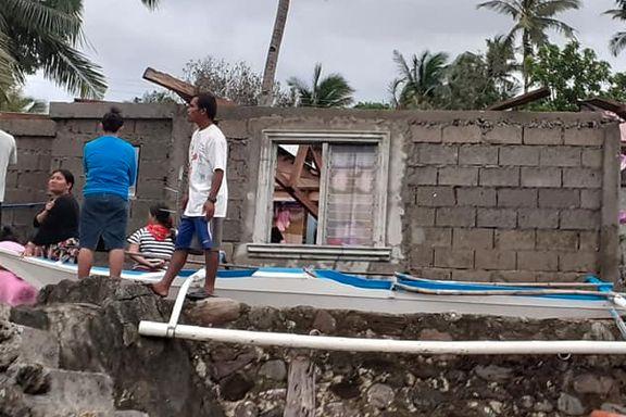Minst 20 døde etter tyfon i Filippinene