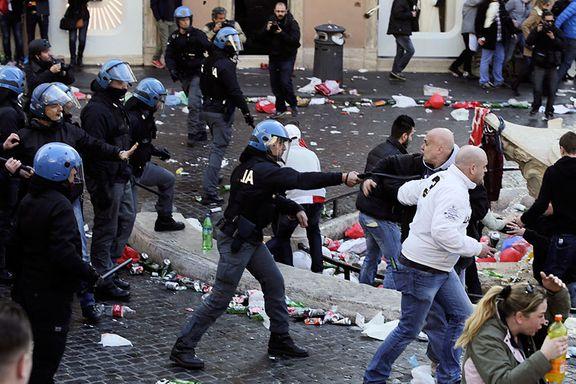 Feyenoord-tilhengere arrestert i Roma: - Skammelig og uakseptabel