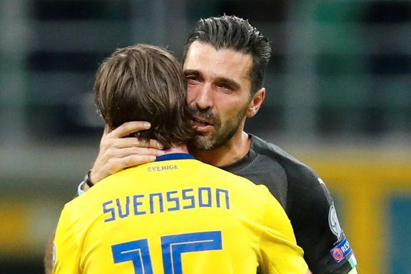 Tårevåt Buffon trakk seg fra landslaget etter fiaskoen mot Sverige