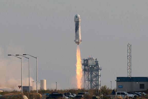 Vellykket rakett-oppskytning for Amazons Jeff Bezos