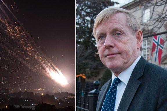 Bomber og raketter hagler: Norges ambassadør måtte søke tilflukt