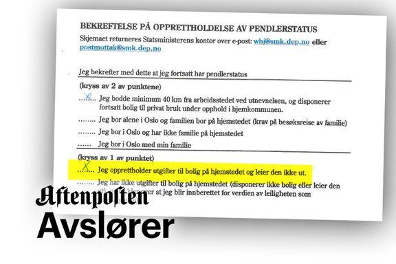 Her skrev KrF-lederen at han hadde boutgifter hos foreldrene. Men betalte ikke.