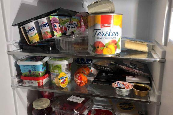Holder maten seg best øverst eller nederst i kjøleskapet?