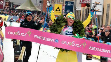 Her jubler Skåla-løper etter lukrativ seier. Pengene må hun leve av til krisen er over.