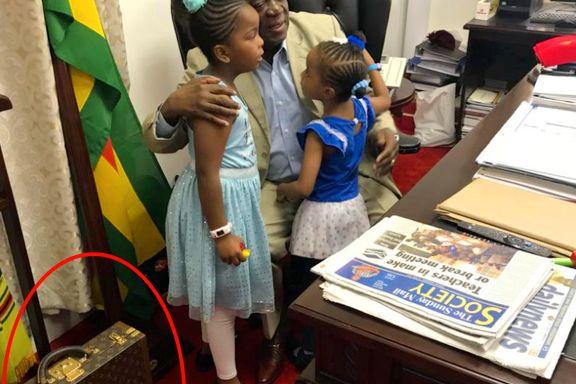Presidenten la ut bilde av barnebarna, men én detalj fyrte opp kritikerne