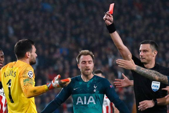 Tottenham gikk mot sin første seier. Så ble keeperen utvist