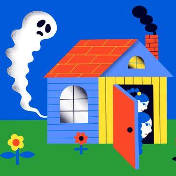 Datteren er redd for spøkelser. Det skaper problemer.