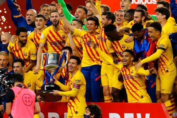 Lionel Messi herjet da Barcelona vant cupen