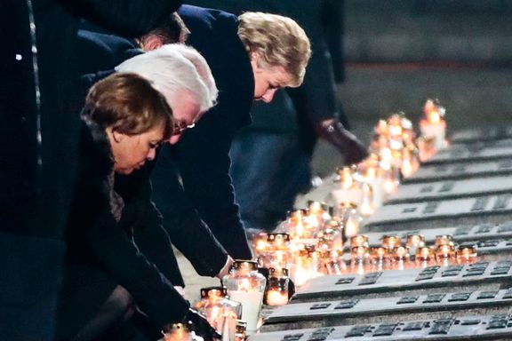 Verdens ledere mintes ofrene. Erna Solberg: – Det er alltid like vondt å komme hit