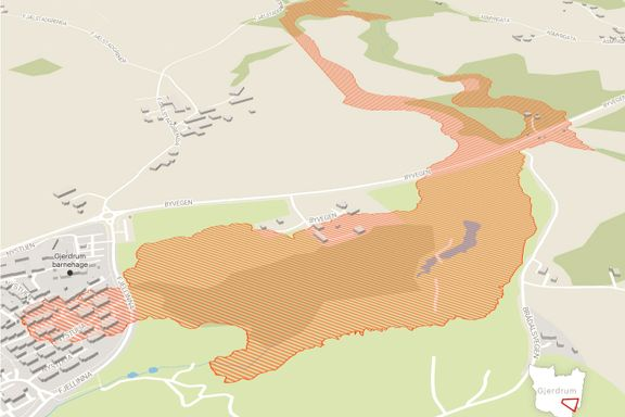 Nytt NVE-kart viser hvor stort område som er berørt av Gjerdrum-skredet