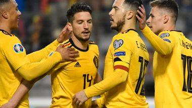 Hazard-dobbel sikret Belgia-seier tross kjempetabbe