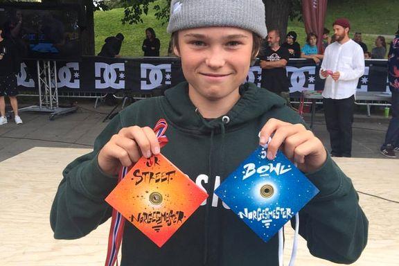 Nye NM-gull til Kristiansand-skater