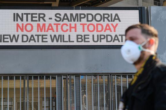 Virusfrykt kan gi tomme fotballtribuner i Italia