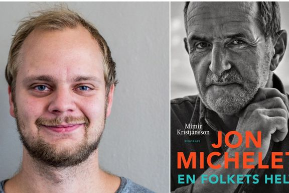 Mímir Kristjánsson sluker Jon Michelet rått