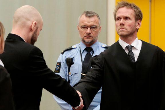 Sejersted om Behring Breivik: Ser på seg selv som den unge Adolf Hitler i fengsel