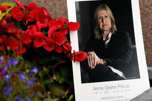 Anne Grete Preus bisatt i dag