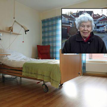 47 dager etter at hun kom på rehabilitering, døde hun dehydrert og underernært